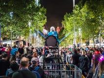Nuit blanche Melbourne 2017 foules Images libres de droits