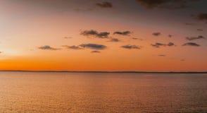 Nuit blanche sur le lac Ladoga Image libre de droits