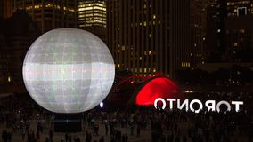Nuit Blanche in Toronto, Canada Stock Images