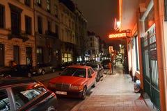 Nuit Bruxelles Images libres de droits