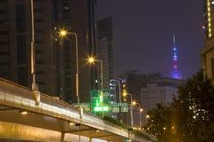 nuit Changhaï image libre de droits