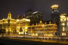 nuit Changhaï photographie stock