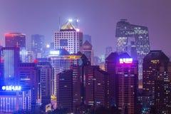 Nuit chez Pékin Images libres de droits