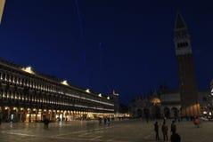 Nuit chez Piazza San Marco Photos libres de droits