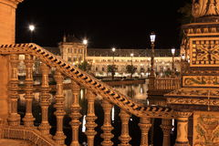 Nuit chez Plaza de Espana célèbre Images libres de droits