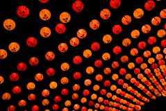 nuit chinoise de lanter Photo stock