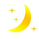 Nuit comme icône de temps Photos libres de droits