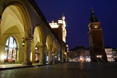 Nuit Cracovie Photo libre de droits