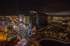 Nuit d'été à Las Vegas Photographie stock libre de droits