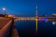 Nuit d'été dans le St Petersbourg Images libres de droits