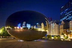 Nuit d'été silencieuse Chicago photos libres de droits
