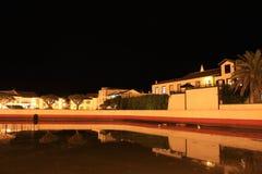 Nuit d'étang de Sta Cruz Image libre de droits