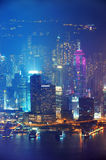 Nuit d'antenne de Hong Kong Image stock