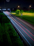 Nuit d'autoroute Photographie stock libre de droits