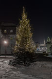 Nuit d'hiver à Ratisbonne photos libres de droits