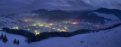Nuit d'hiver Image libre de droits