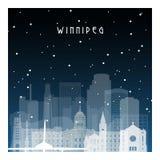 Nuit d'hiver dans Winnipeg illustration de vecteur