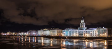 Nuit d'hiver de St Petersbourg Photo stock