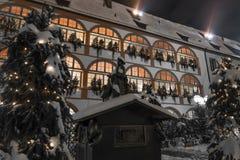 Nuit d'hiver prédicateur d'oie dans de Ratisbonne †« image libre de droits