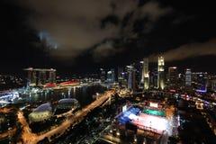 Nuit d'horizon de compartiment de marina Image libre de droits