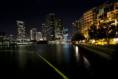 Nuit d'horizon de Miami Photos stock