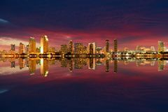 Nuit d'horizon de San Diego images stock