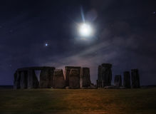 Nuit d'imagination chez Stonehenge Photos stock