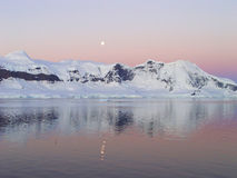 Nuit d'été en Antarctique Images stock