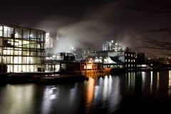 nuit d'usine Images libres de droits