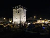 Nuit dans Cervia Photographie stock libre de droits