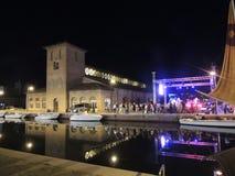 Nuit dans Cervia Photographie stock