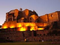 Nuit dans Cusco, Pérou photographie stock libre de droits