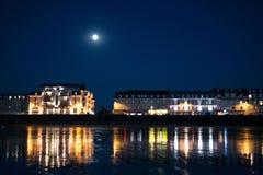 Nuit dans la côte Image libre de droits