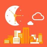Nuit dans la grande ville illustration de vecteur