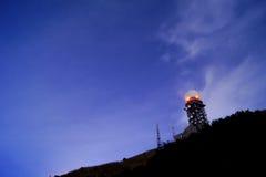 Nuit dans la montagne Photographie stock libre de droits
