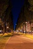 Nuit dans la ruelle images libres de droits