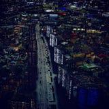 Nuit dans la ville Images stock