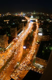 Nuit dans la ville de Moscou Photographie stock libre de droits