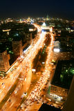 Nuit dans la ville de Moscou Image stock
