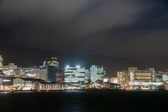 Nuit dans la ville, Wellington, Nouvelle-Zélande images stock
