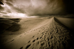 Nuit dans le désert Photo stock