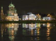 Nuit dans le patrimoine Ostankino de pays Photos stock