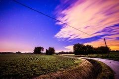 Nuit dans les domaines Image libre de droits