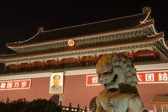Nuit dans Pékin Photo libre de droits