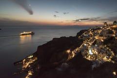 Nuit dans Santorini Images libres de droits
