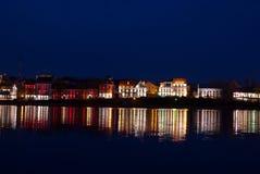 Nuit dans une nuit de ville dans une ville Photographie stock