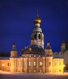 Nuit dans Vologda Photographie stock