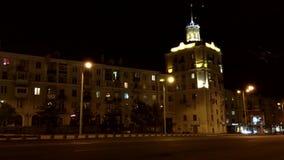Nuit dans Zaporozhye banque de vidéos