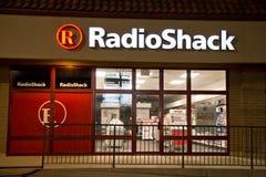 Nuit de bâtiment de Radio Shack @ Image stock