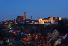 Nuit de Bautzen Photo libre de droits